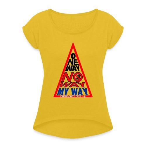 No way - Maglietta da donna con risvolti