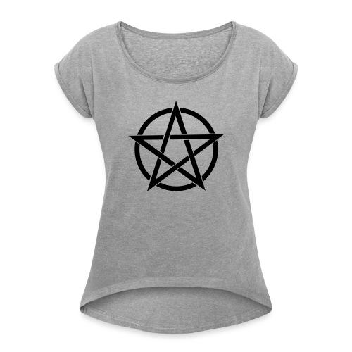 Pentagramme Wicca - T-shirt à manches retroussées Femme