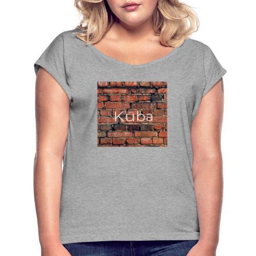 7F81A596 0E5B 4B2F B834 14F461EBB04F - Frauen T-Shirt mit gerollten Ärmeln
