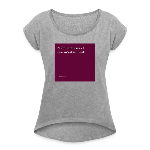 20200110 191357 - Camiseta con manga enrollada mujer