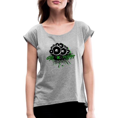 cab & Hoffi -liveact- - Frauen T-Shirt mit gerollten Ärmeln