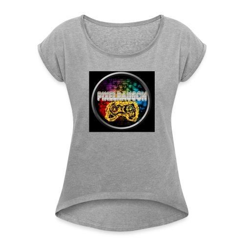 Pixelrausch Fanartikel - Frauen T-Shirt mit gerollten Ärmeln