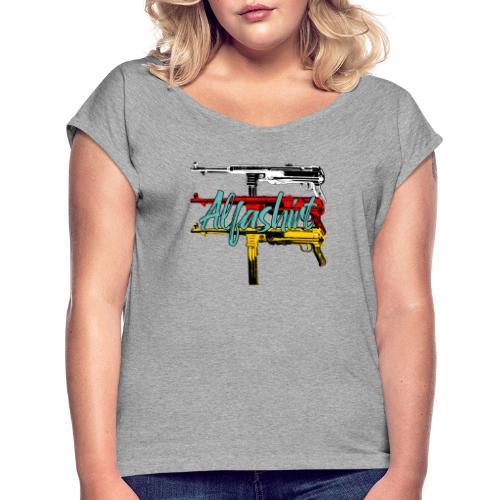 Alfashirt Mp40 - Frauen T-Shirt mit gerollten Ärmeln
