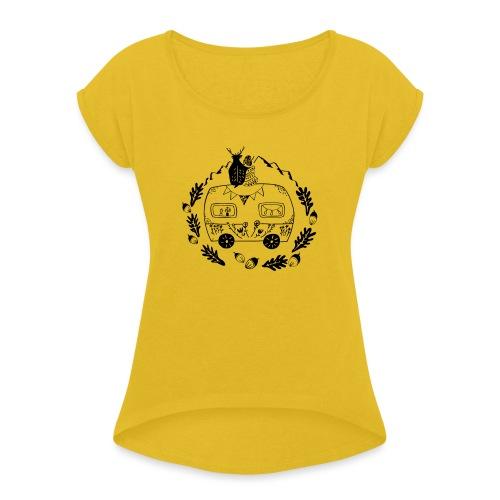 Norwegenliebe - Frauen T-Shirt mit gerollten Ärmeln