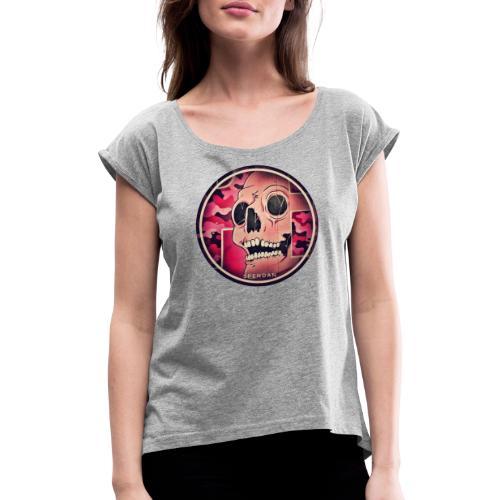 CC 20190201 055922 - Frauen T-Shirt mit gerollten Ärmeln
