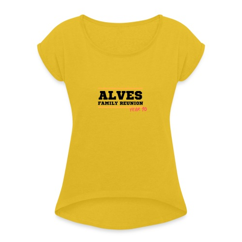 Alves - Maglietta da donna con risvolti