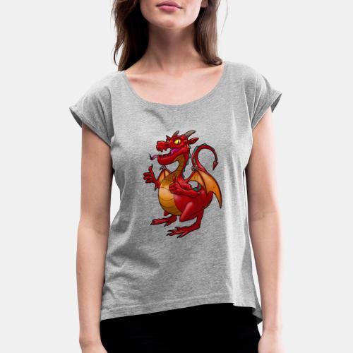 Drako_Drake - Camiseta con manga enrollada mujer