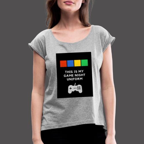 Game night uniform - Camiseta con manga enrollada mujer