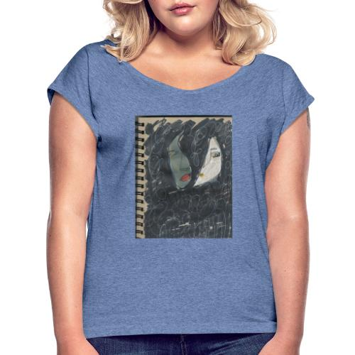 La noche - Camiseta con manga enrollada mujer