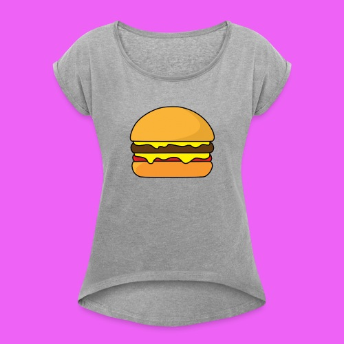 Tasty Burguer - Camiseta con manga enrollada mujer
