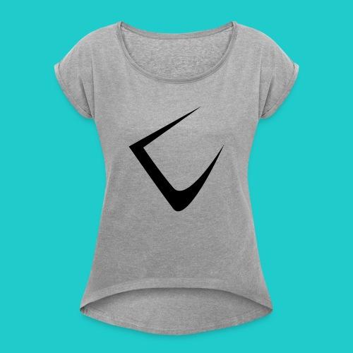 U - Frauen T-Shirt mit gerollten Ärmeln