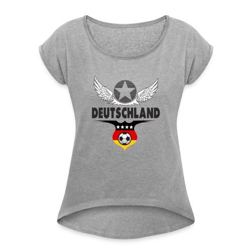 Deutschland 2019 - Vrouwen T-shirt met opgerolde mouwen