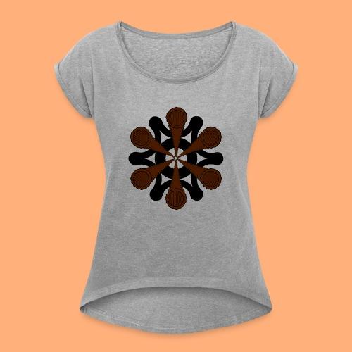 vortex - T-shirt à manches retroussées Femme