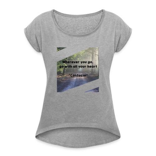 confucio - Maglietta da donna con risvolti