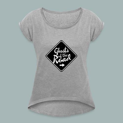 Ghosts of the Road - FreqsTV Official Merch - Frauen T-Shirt mit gerollten Ärmeln