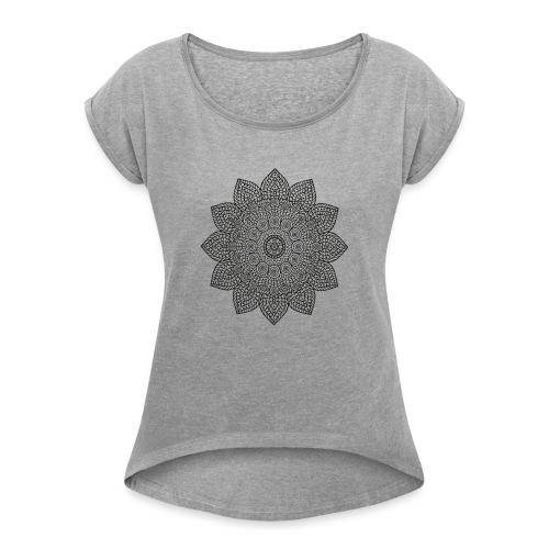 Mandala geometria sacra geometric - Maglietta da donna con risvolti