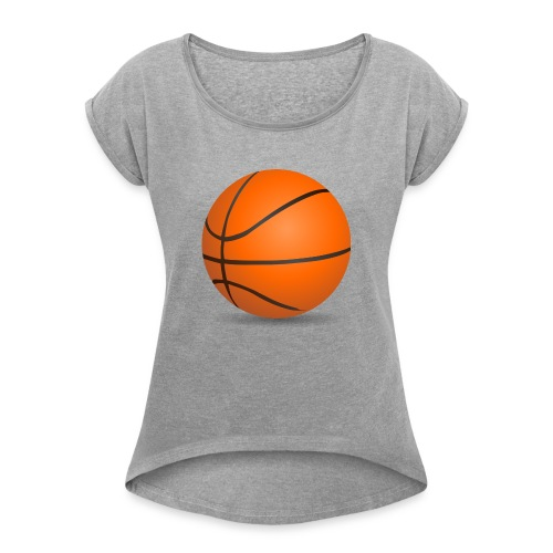 Boll - T-shirt med upprullade ärmar dam