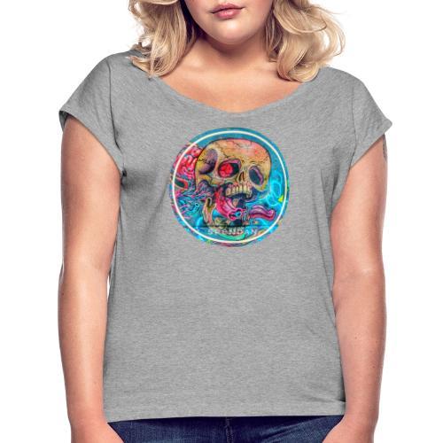 CC 20181012 201428 4096x4096 - Frauen T-Shirt mit gerollten Ärmeln