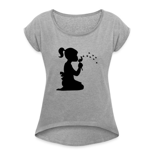 Koszulka blowing - Maglietta da donna con risvolti