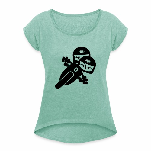 Motorcycle pair 2 - Women's T-Shirt with rolled up sleeves