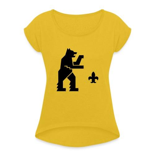hemelogovektori - Naisten T-paita, jossa rullatut hihat