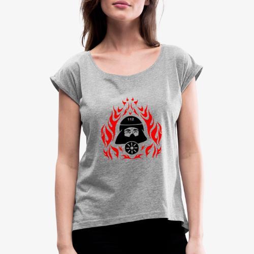 Atemschutz Flamme 2 - Frauen T-Shirt mit gerollten Ärmeln