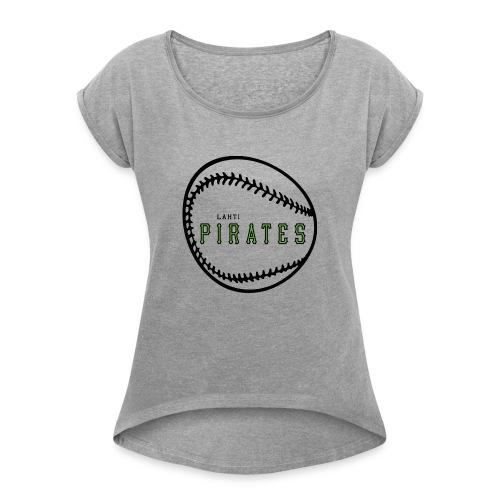 Fani tuotteet - Naisten T-paita, jossa rullatut hihat