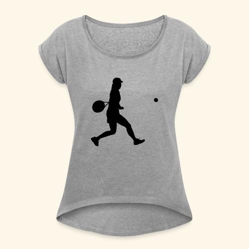 tennis woman 2 - T-shirt à manches retroussées Femme