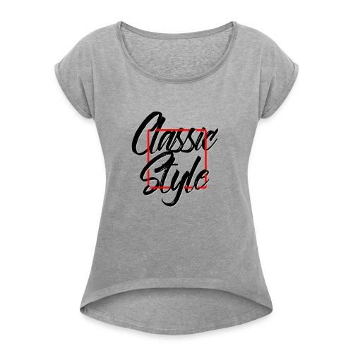 Classic style - Camiseta con manga enrollada mujer