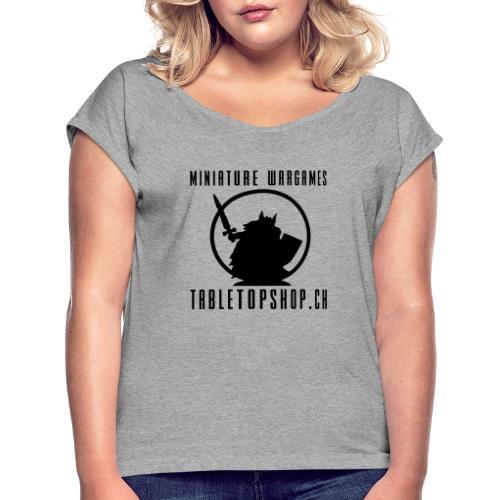 MiniatureWargamesLogo neu2 pfad - Frauen T-Shirt mit gerollten Ärmeln