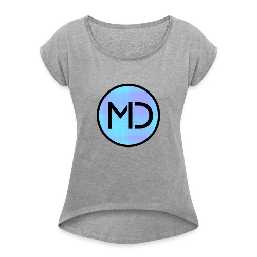 MD Blue Fibre Trans - Women's T-Shirt with rolled up sleeves