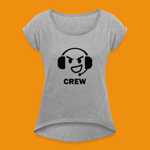 T-shirt-front - Dame T-shirt med rulleærmer