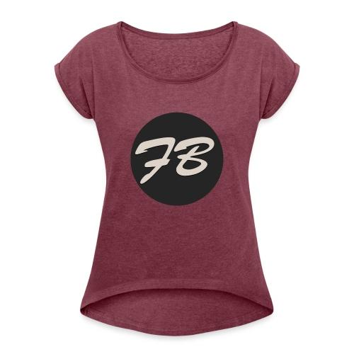 TSHIRT-INSTAGRAM-LOGO-KAAL - Vrouwen T-shirt met opgerolde mouwen