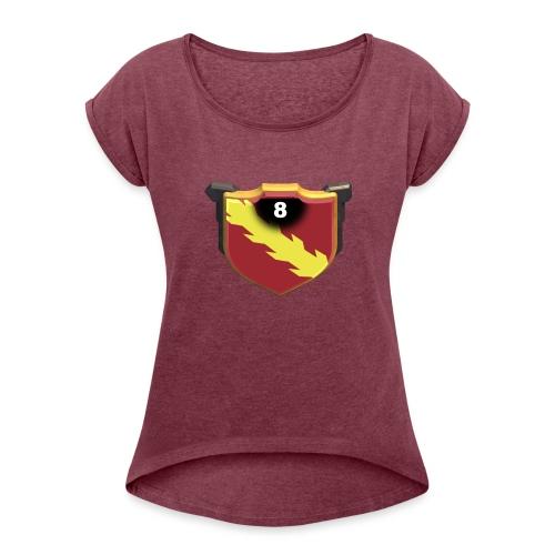 ESCUDO-01 - Camiseta con manga enrollada mujer