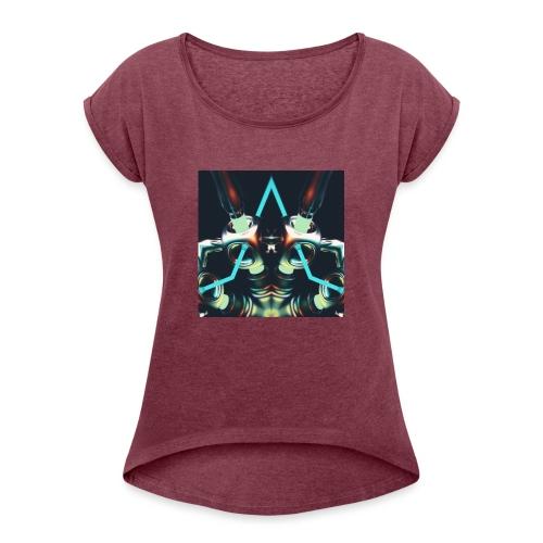 Energize Fields by RNZO - Vrouwen T-shirt met opgerolde mouwen