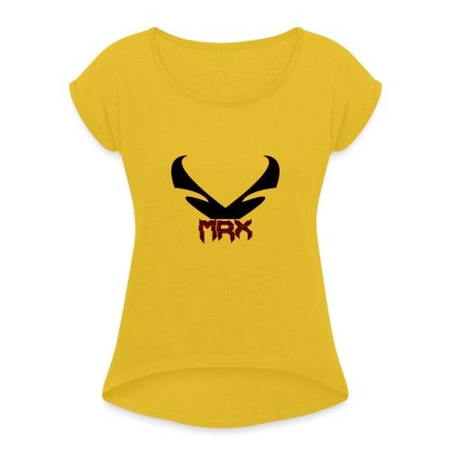 Black MRX - Frauen T-Shirt mit gerollten Ärmeln