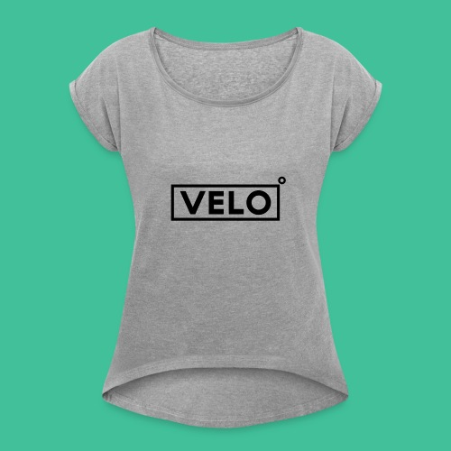 Velo Icon Blk - Long Sleeve Baseball Shirt W/N Clr - Women's T-Shirt with rolled up sleeves