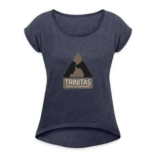 Trinitas Nøglesnor - Dame T-shirt med rulleærmer