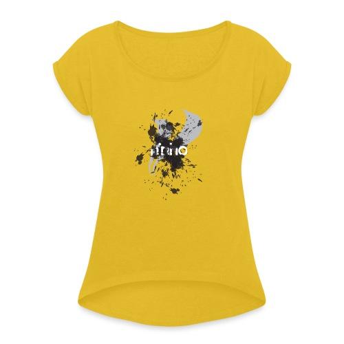 Ninho Flyng Sketch - Maglietta da donna con risvolti