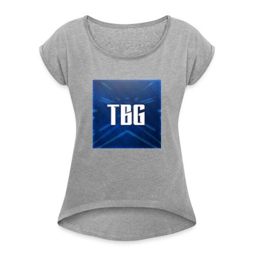 TBG Kleding - Vrouwen T-shirt met opgerolde mouwen