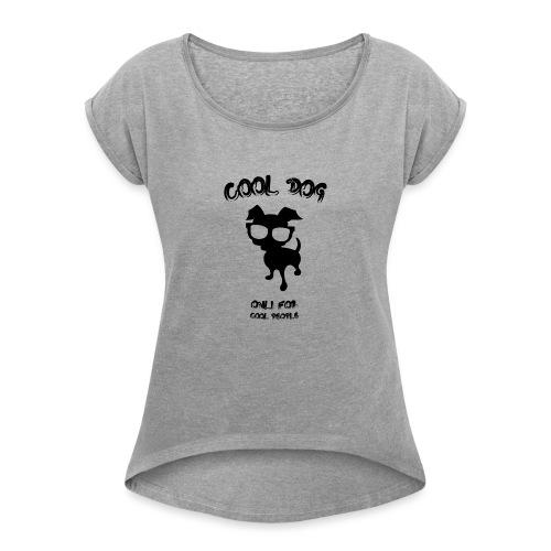 COOL_DOG - Maglietta da donna con risvolti