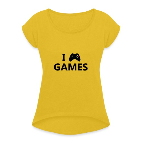 I Love Games 3 - Camiseta con manga enrollada mujer