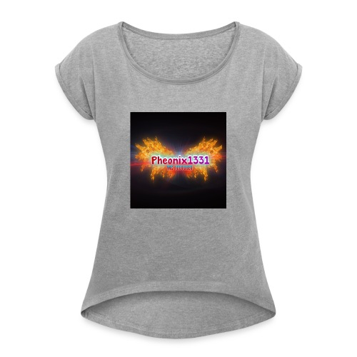 Flaming Pheonix YT - Women's T-Shirt with rolled up sleeves