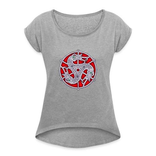 Trisquel Vendel - Camiseta con manga enrollada mujer