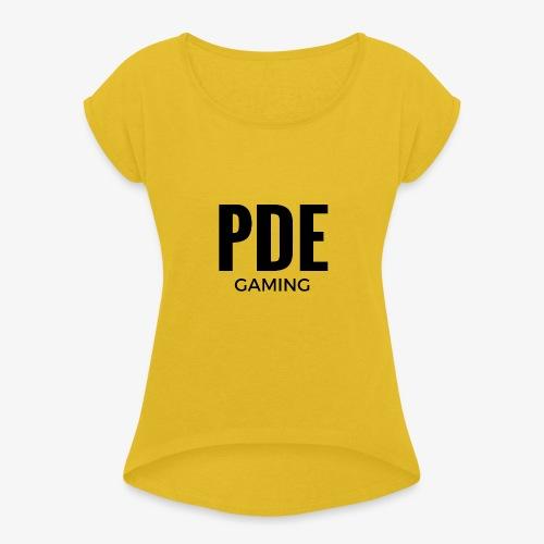 PDE Gaming - Frauen T-Shirt mit gerollten Ärmeln