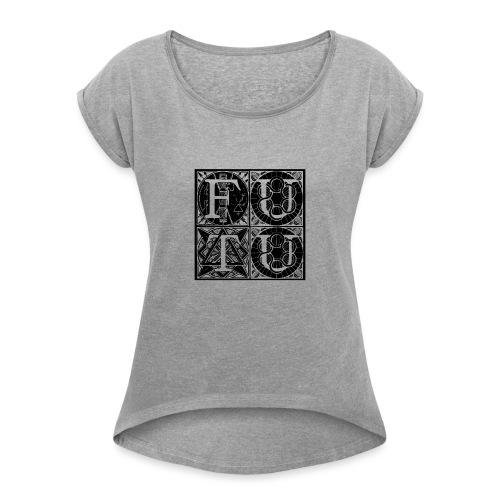 futu MERCHANDISING - Camiseta con manga enrollada mujer