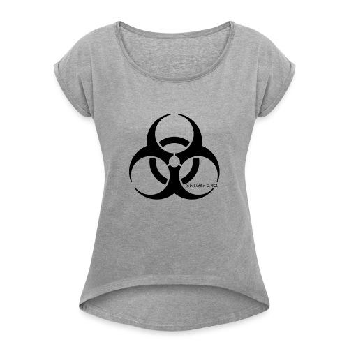 Biohazard - Shelter 142 - Frauen T-Shirt mit gerollten Ärmeln