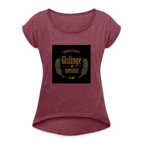Sort logo 2017 - Dame T-shirt med rulleærmer