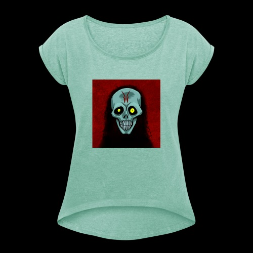 Ghost skull - Women's T-Shirt with rolled up sleeves