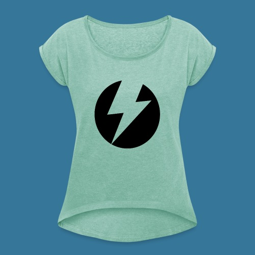 BlueSparks - Inverted - Women's T-Shirt with rolled up sleeves